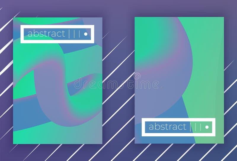 Insieme geometrico della copertura di vettore di Absract illustrazione di stock
