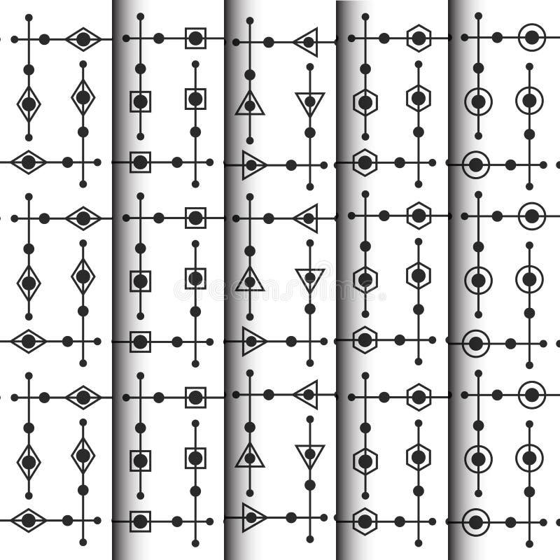 Insieme geometrico e tocco del modello royalty illustrazione gratis
