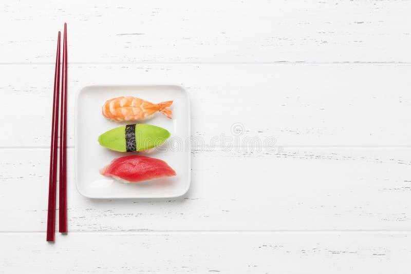 Insieme giapponese dei sushi immagine stock libera da diritti