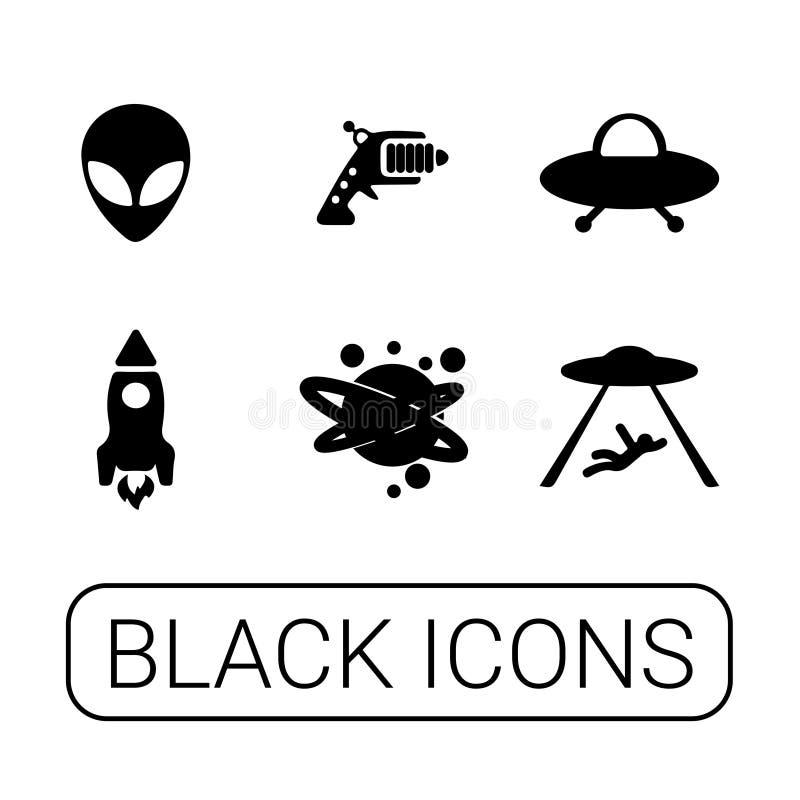 Insieme grafico del UFO royalty illustrazione gratis