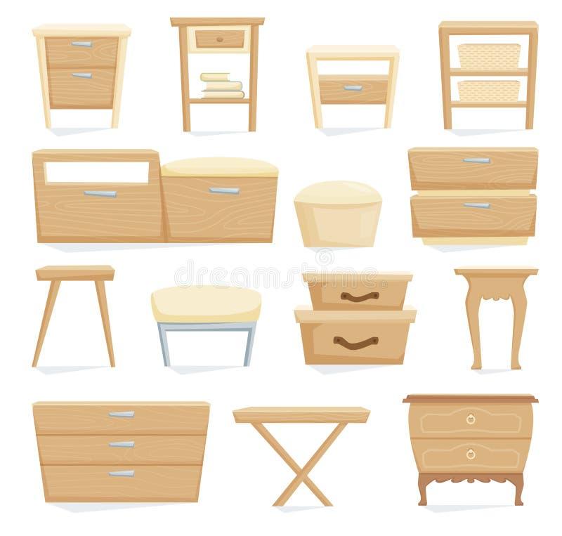Insieme interno della mobilia illustrazione di stock