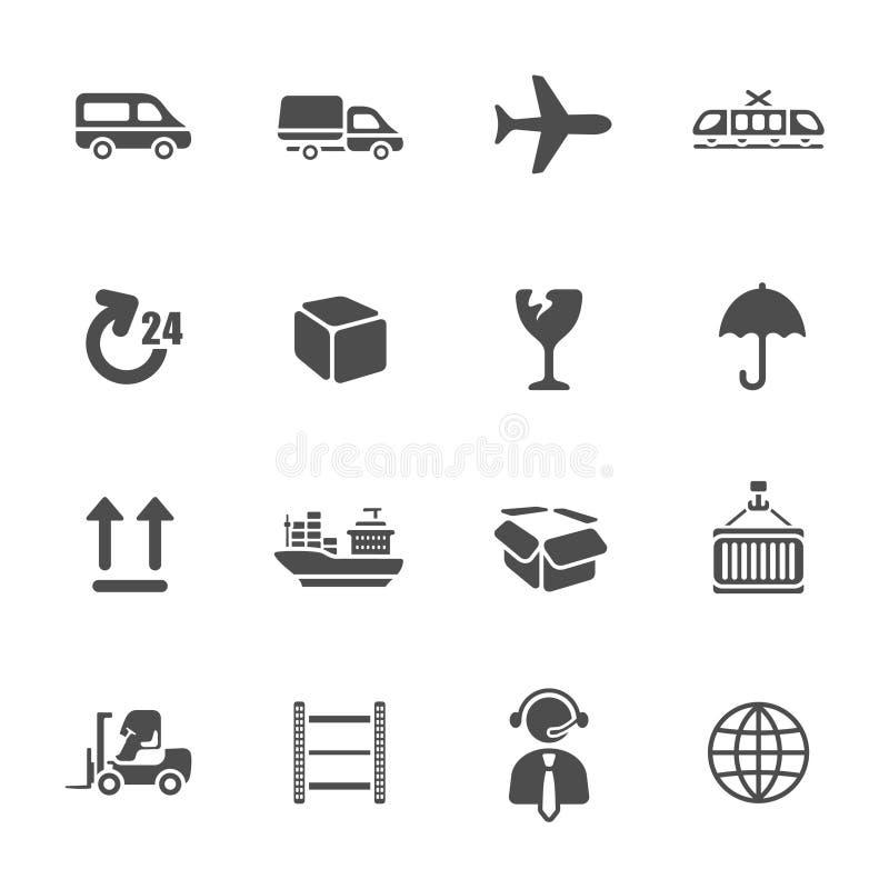 Insieme logistico dell'icona royalty illustrazione gratis