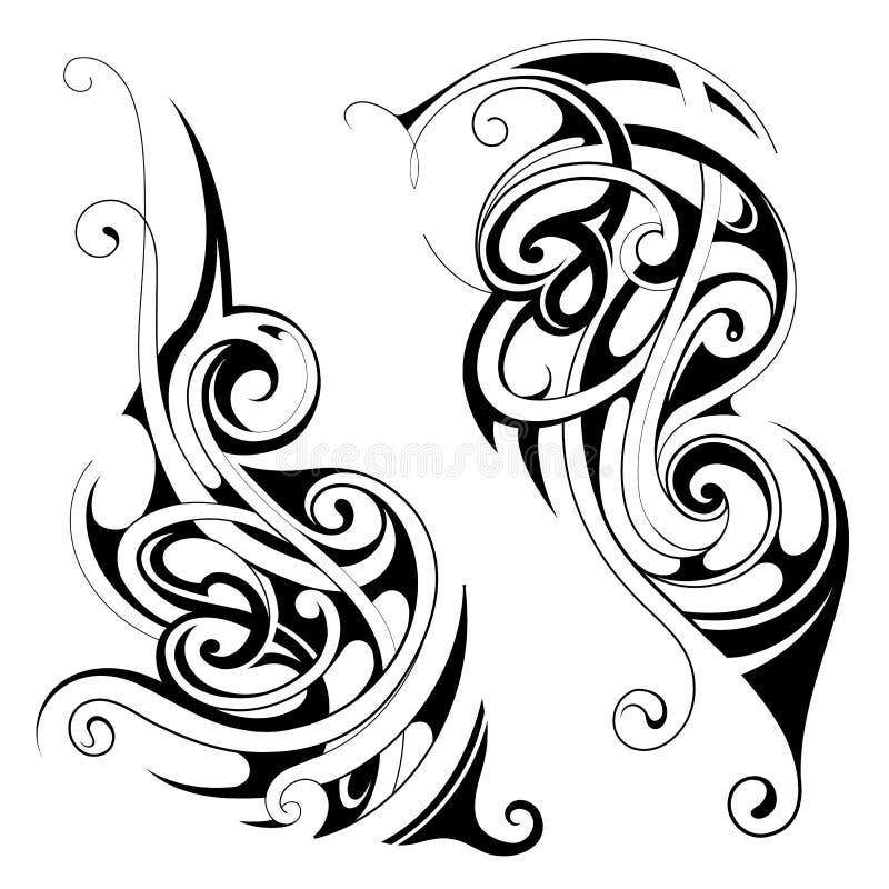 Insieme maori del tatuaggio di stile illustrazione vettoriale