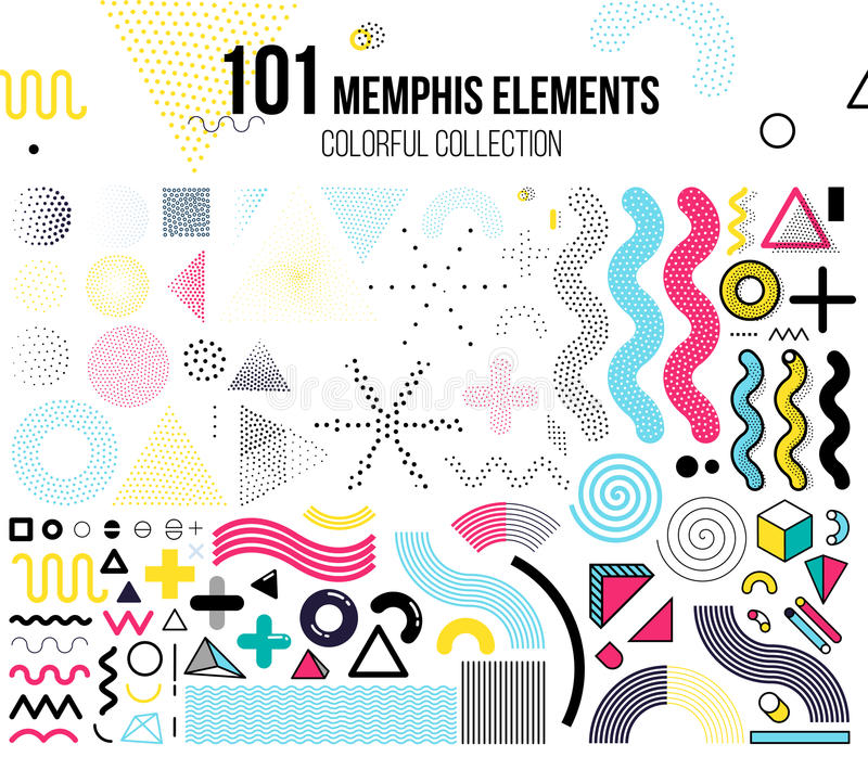 Insieme mega degli elementi di progettazione illustrazione di stock