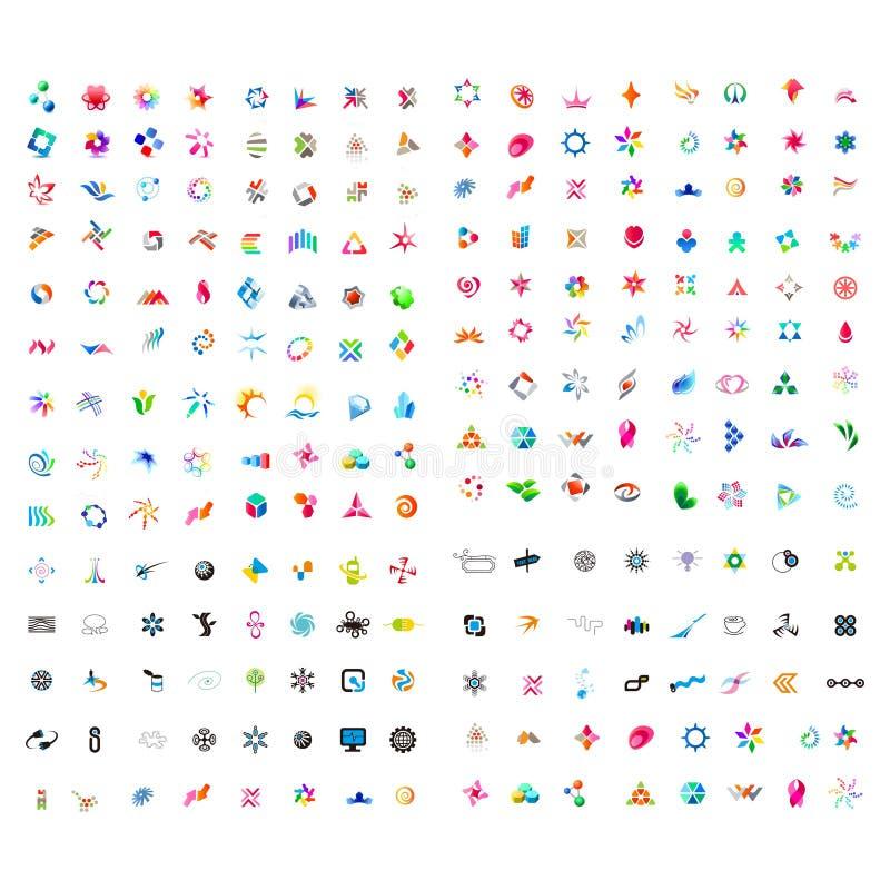 Insieme mega dell'elemento di progettazione di logo per il vostri affare e tecnologia royalty illustrazione gratis