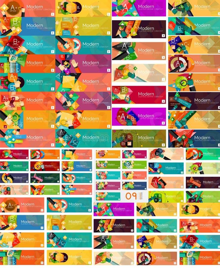 Insieme mega di opzione universale di web infographic illustrazione di stock