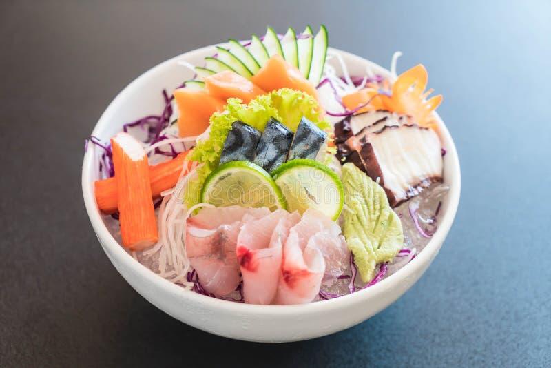 Insieme misto del sashimi fotografie stock