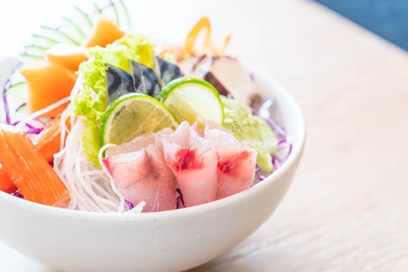 Insieme misto del sashimi fotografia stock