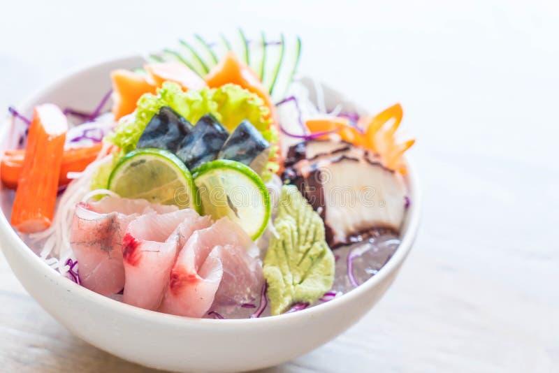 Insieme misto del sashimi immagini stock