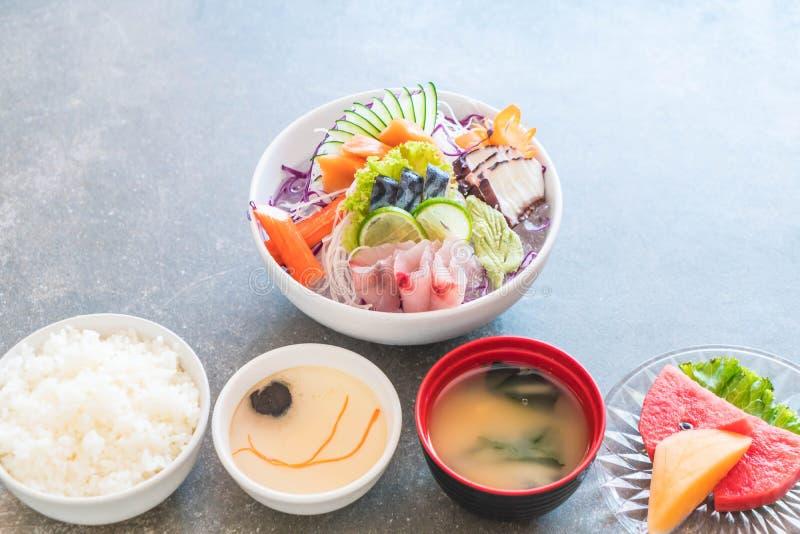 Insieme misto del sashimi fotografie stock libere da diritti