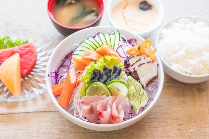Insieme misto del sashimi immagine stock