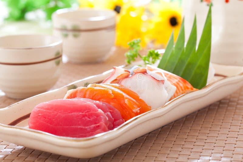 Insieme misto del sashimi fotografia stock libera da diritti