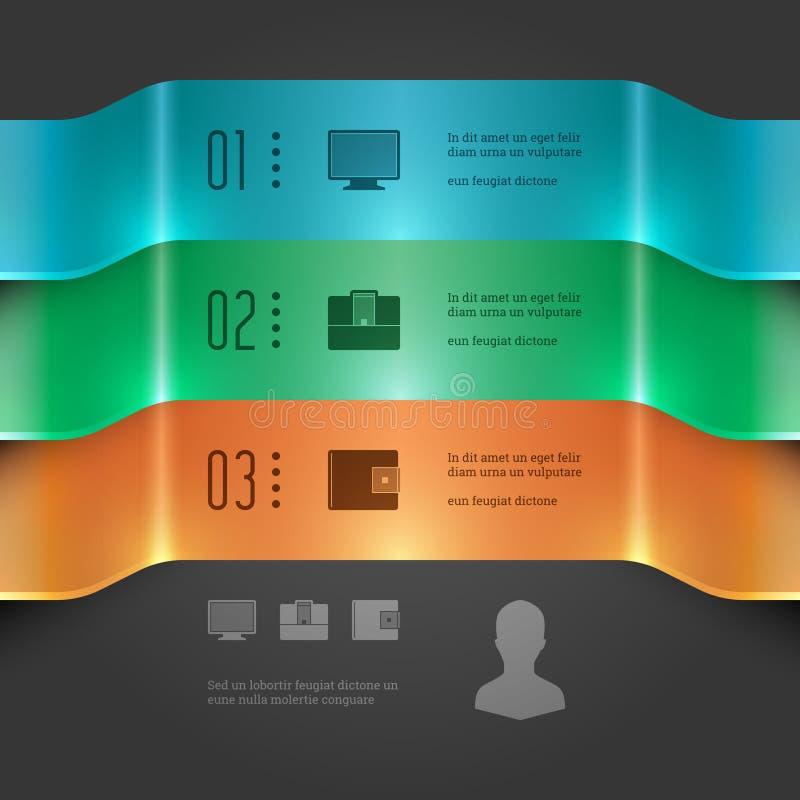 Insieme moderno di Infographics di vettore. diagramma di grafico delle insegne 3D. Illustrazione di vettore EPS10 royalty illustrazione gratis