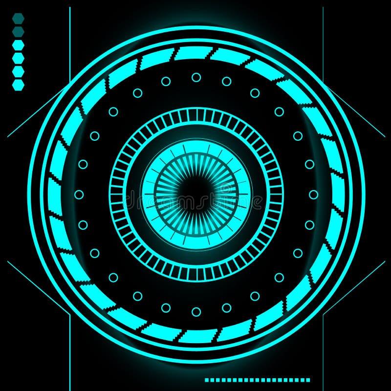 Insieme moderno futuristico dell'interfaccia utente di Sci Fi HUD astratto royalty illustrazione gratis