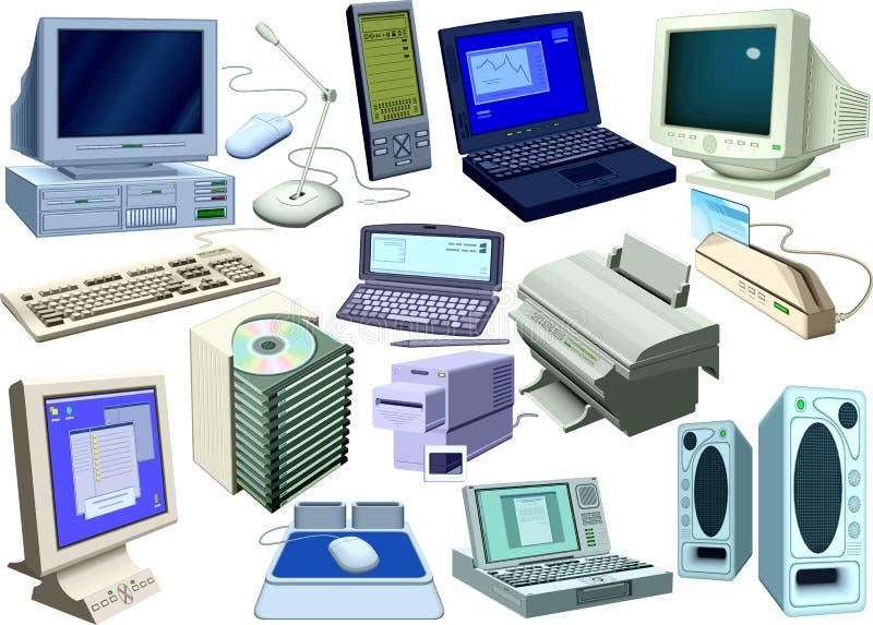 Insieme - mondo dei computer illustrazione vettoriale