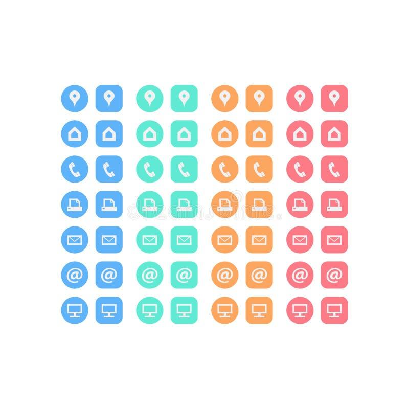 Insieme multiuso delle icone di web per l'affare, la finanza e la comunicazione illustrazione vettoriale