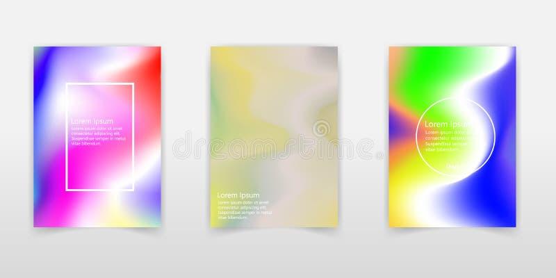 Insieme olografico del manifesto Sottragga gli ambiti di provenienza Manifesto olografico futuristico della stagnola con la magli royalty illustrazione gratis