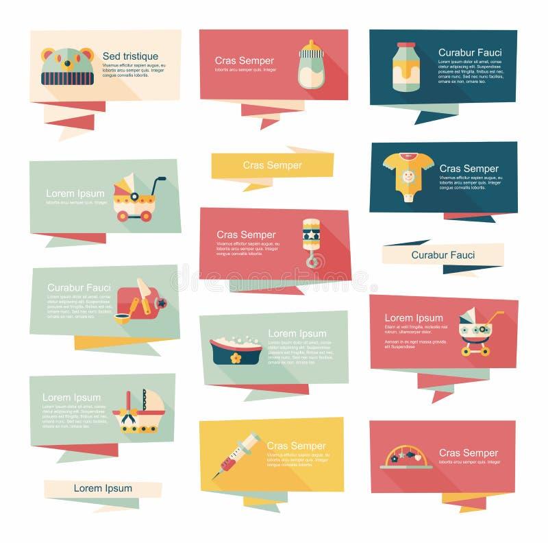 Insieme piano del fondo dell'insegna del bambino, eps10 royalty illustrazione gratis