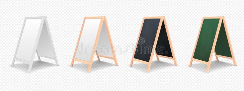 Insieme realistico dell'icona del bordo di annuncio del menu isolato su fondo trasparente royalty illustrazione gratis