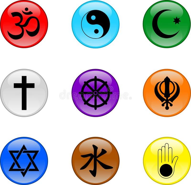 Insieme religioso dell'icona illustrazione vettoriale