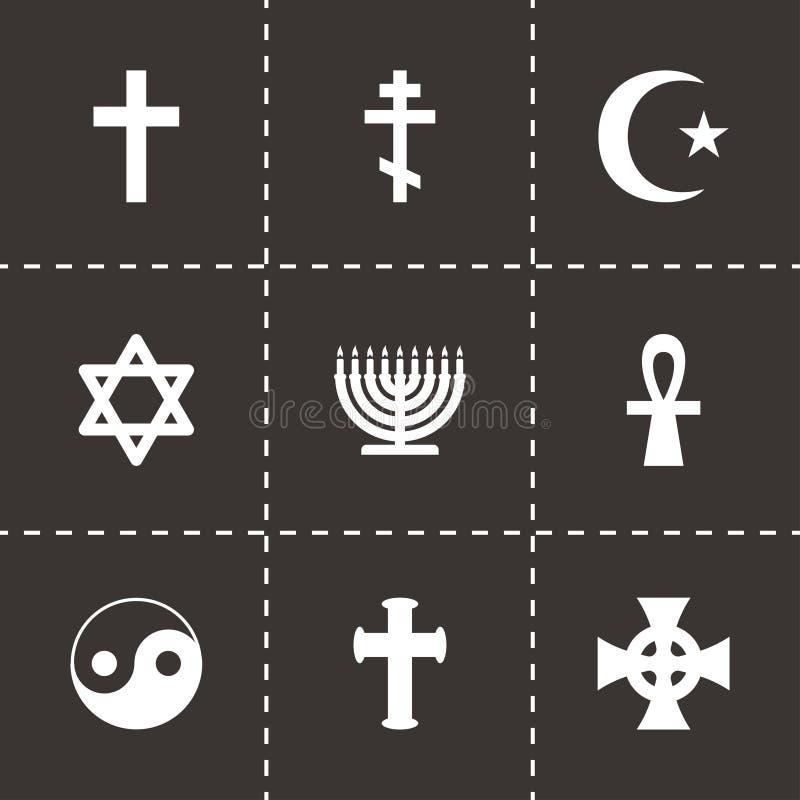 Insieme religioso dell'icona di simboli di vettore royalty illustrazione gratis
