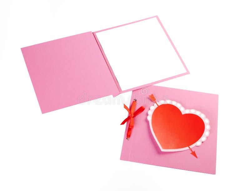 Insieme romantico di progettazione isolato su bianco Per essere usato per l'invito immagini stock