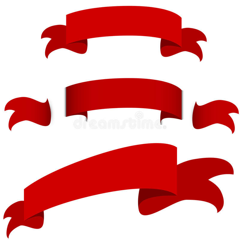 Insieme rosso dell'icona dell'insegna del nastro royalty illustrazione gratis