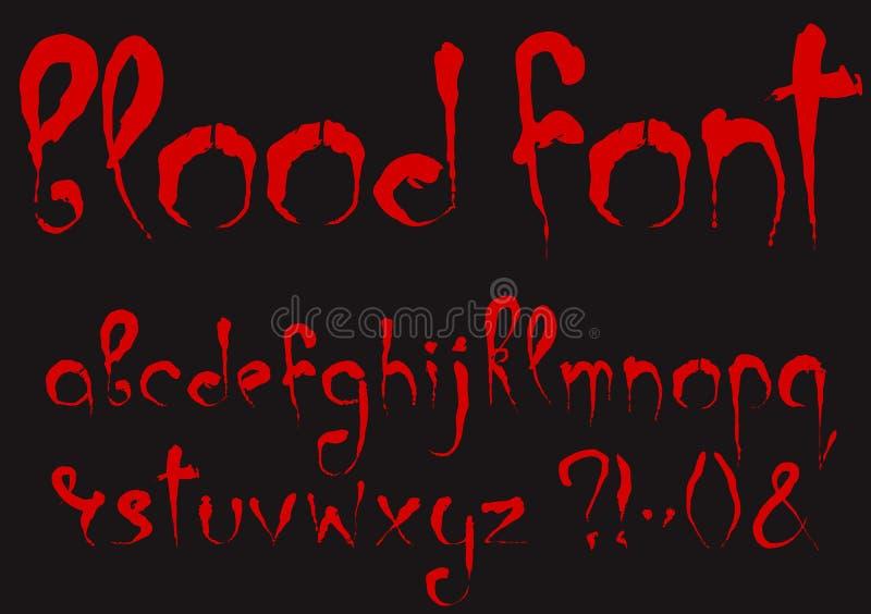 Insieme sanguinoso di alfabeto illustrazione di stock