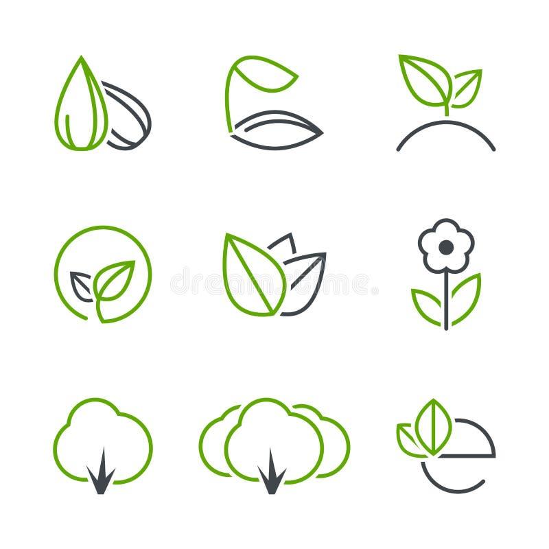 Insieme semplice dell'icona di vettore della primavera illustrazione di stock