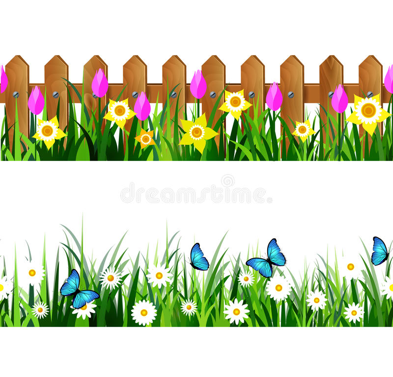 Insieme senza cuciture dell'erba verde royalty illustrazione gratis