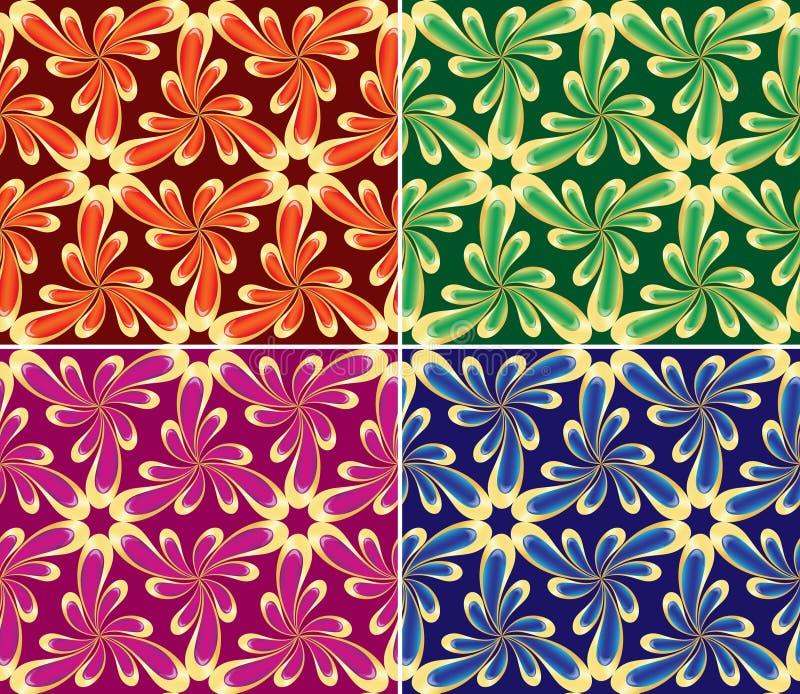 Insieme senza giunte floreale (vettore, CMYK) illustrazione vettoriale