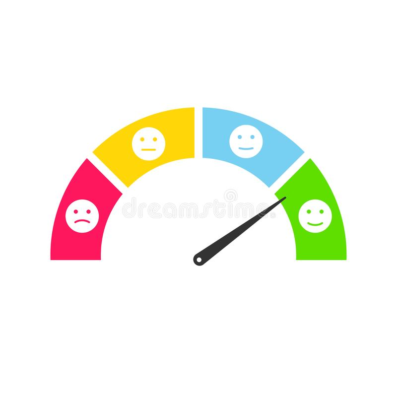Insieme sorridente di infographics di risposte di clienti Illustrazione dell'emoticon di testimonianze dell'utente royalty illustrazione gratis