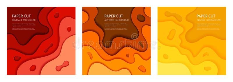 Insieme tagliato di carta del fondo dell'estratto di vettore royalty illustrazione gratis