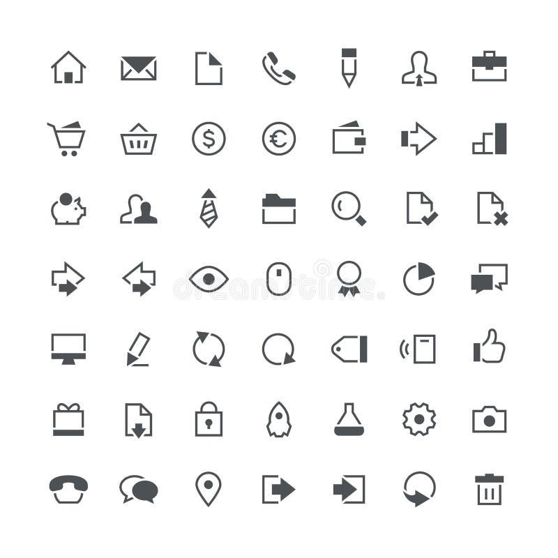 Insieme totale dell'icona di affari illustrazione di stock