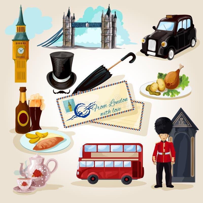 Insieme turistico di Londra royalty illustrazione gratis