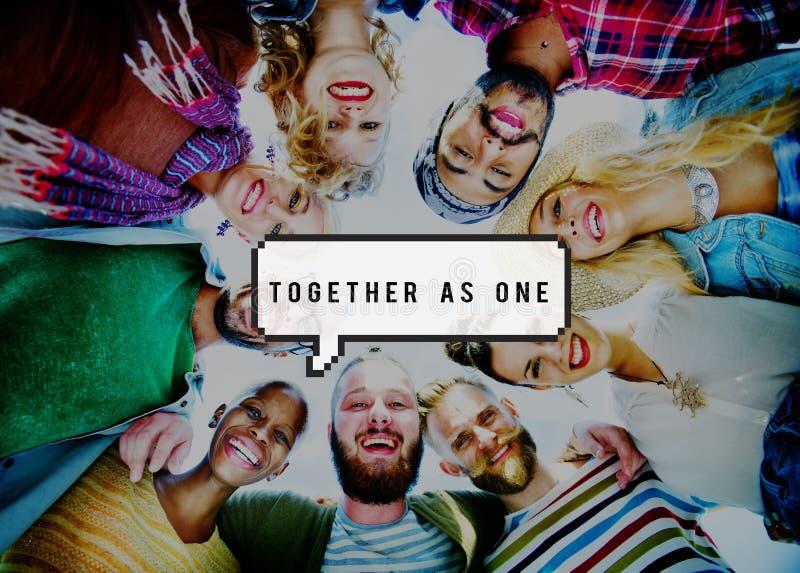 Insieme unità Team Teamwork Connection Concept fotografia stock