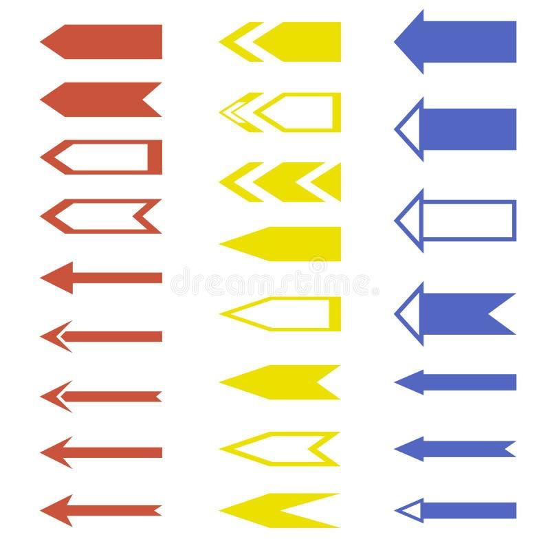Insieme universale delle frecce illustrazione di stock