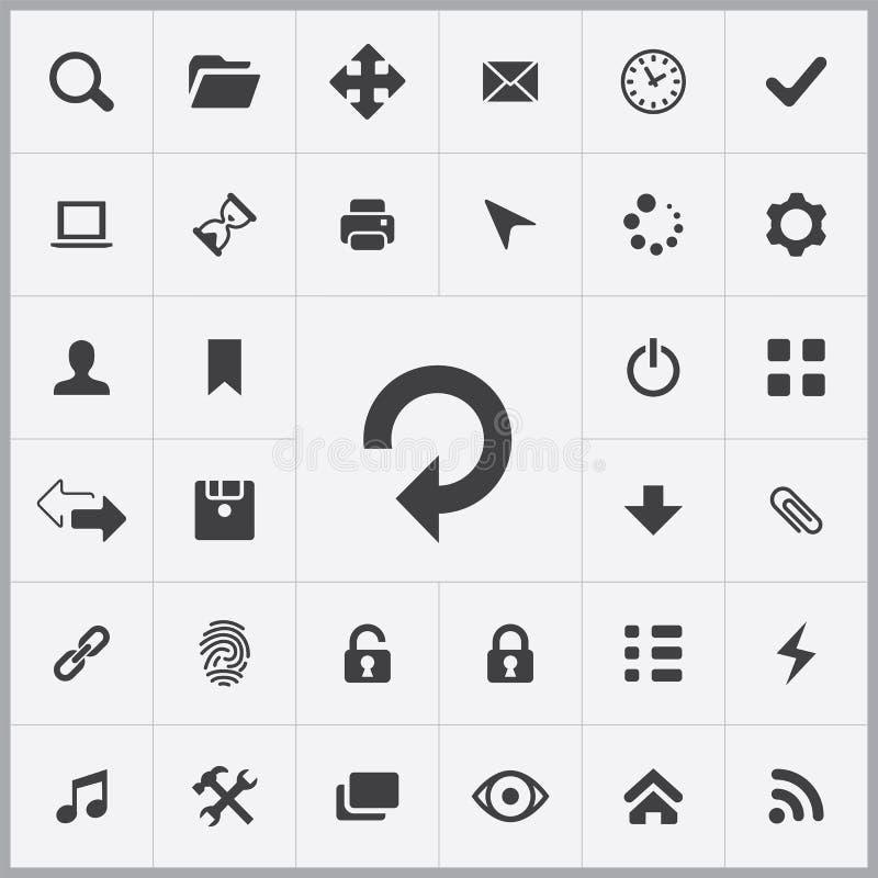Insieme universale delle icone di App illustrazione di stock