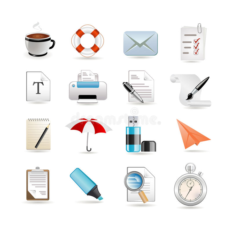 Insieme universale delle icone di Web illustrazione di stock