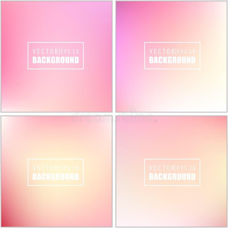 Insieme vago multicolore del fondo di vettore creativo astratto di concetto Per le applicazioni del cellulare e di web, illustraz illustrazione vettoriale