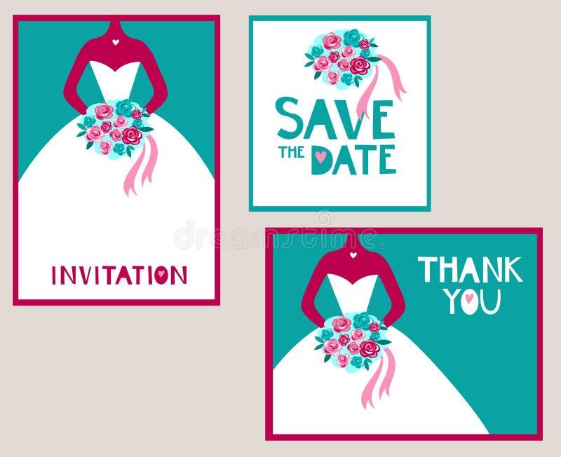 Insieme Wedding royalty illustrazione gratis