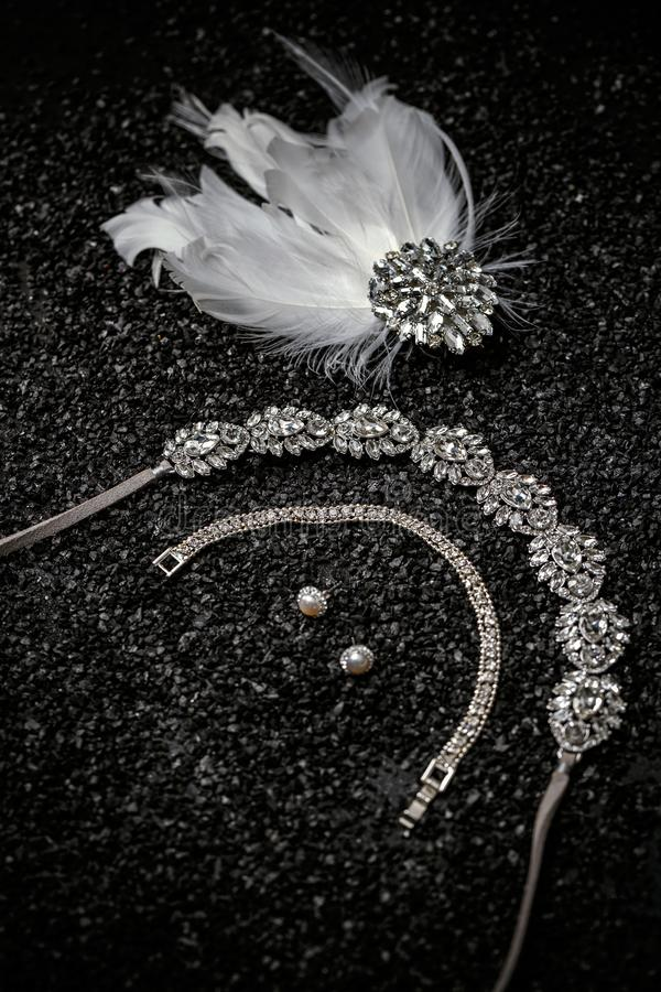 Insiemi dei gioielli fotografie stock libere da diritti