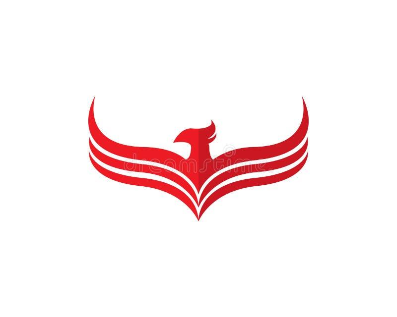 Insiemi del modello di progettazione di logo di Phoenix illustrazione vettoriale