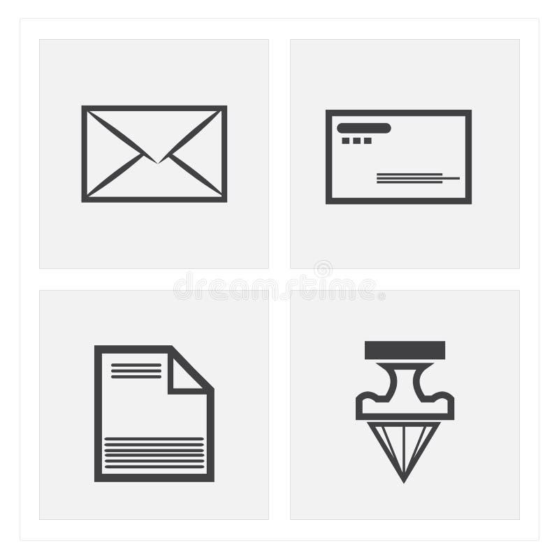 insiemi dell'icona della lettera immagine stock libera da diritti