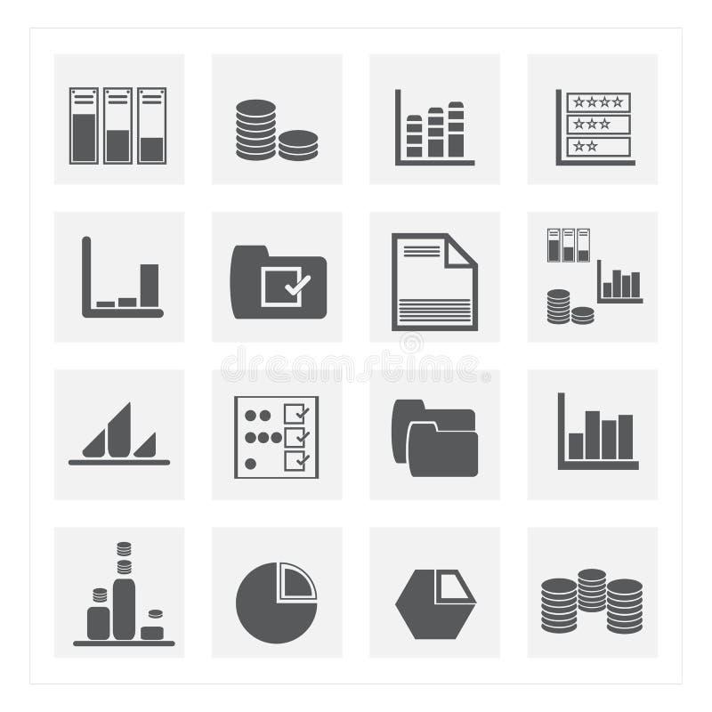 insiemi dell'icona di dati immagini stock libere da diritti