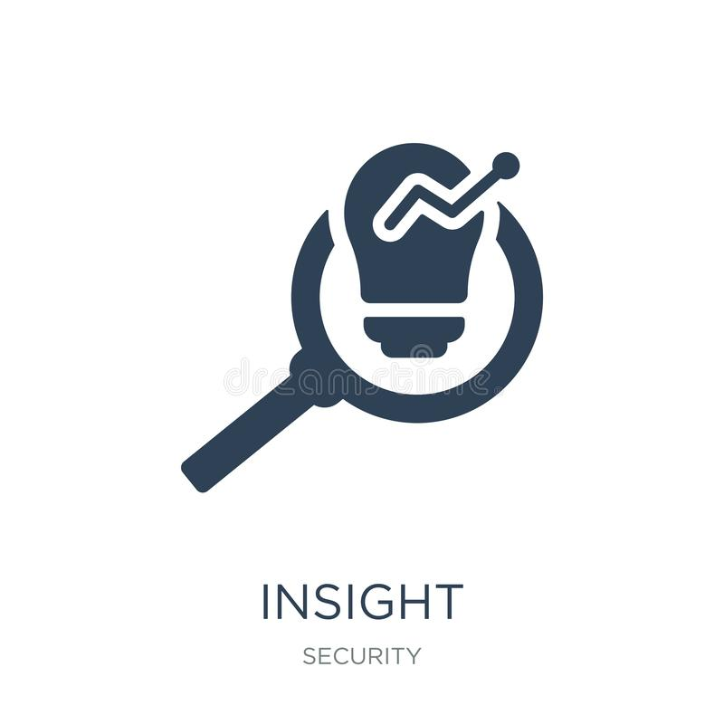 Insight icon in trendy design style. insight icon isolated on white background. insight vector icon simple and modern flat symbol. For web site, mobile, logo royalty free illustration