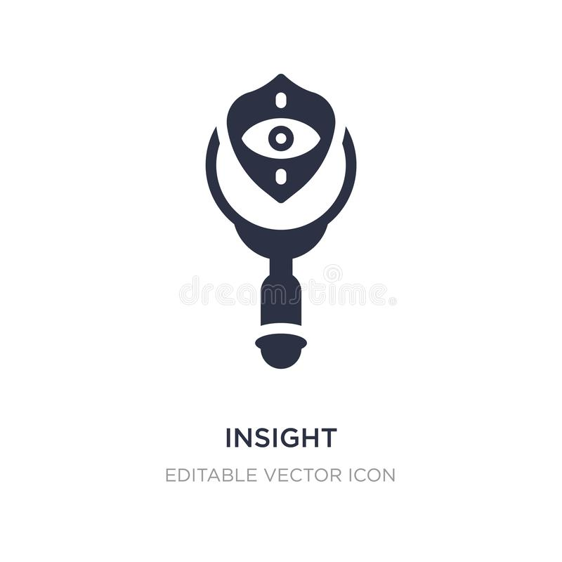 insight icon on white background. Simple element illustration from Security concept vector illustration