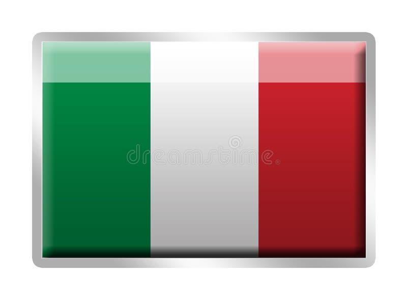 Insigne émaux par métal italien d'indicateur illustration stock