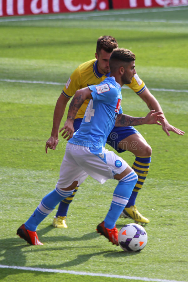 Insigne in Arsenal-Napoli royalty free stock image