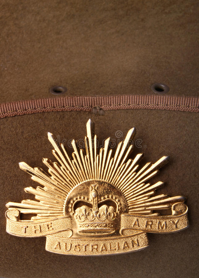 Insigne australien d'armée de Soleil Levant photo libre de droits
